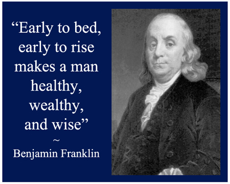 Early to Bed Early to Rise - Proven Habit of the Wealthy