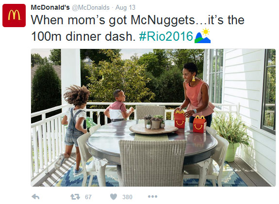 #Bronze Winner: @McDonalds